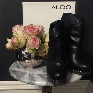 Black Aldo Studded Booties